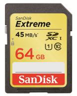 Karta SanDisk Extreme SD SDXC 64GB Class10 45MB/s