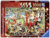 RAVENSBURGER Puzzle 1000 Św. Mikołaj z prezentami