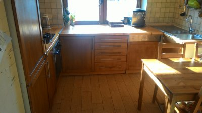 Kuchnia Ikea Faktum Fronty Bukowe Agd 6319173078
