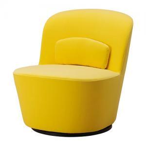Ikea Stockholm Stylowy Fotel Obrotowy żółty 5723973894