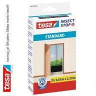 Moskitiera drzwiowa tesa Standard 1,2 x 2,2 czarna