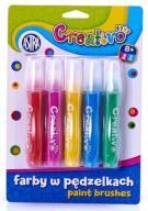 Farby w tubce z pędzelkiem 5 kol Creativo Astra