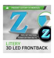 Litery 3D LED - FRONTBACK - 30cm gięte maszynowo