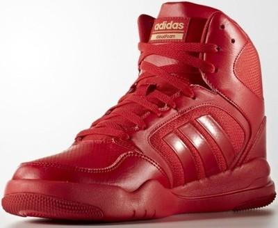 buty adidas meskie za kostki czerwone