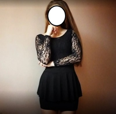 63c675b592 Sukienka mała czarna koronka baskinka gołe plecy - 6668303430 ...