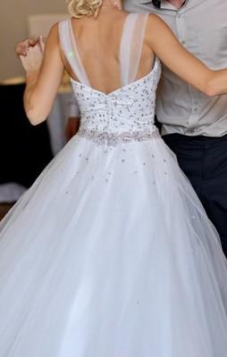Suknia ślubna Gorset Swarovskiodkryte Plecygratis 6914080415