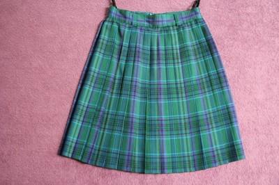 Spódnica plisowana szkocka krata r. 36