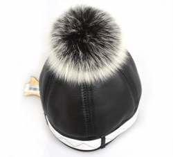 9d4a059f9c7d8 Piękna CZAPKA damska SKÓRZANA kapelusz SKÓRA - 6458110320 ...