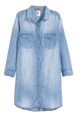 8a6ff538 Koszula dżinsowa DŁUGA H&M 34 XS (358) - 6891278286 - oficjalne ...