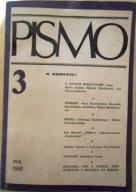 """Miesięcznik """"Pismo"""" Nr 3 - maj 1981"""