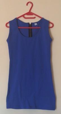 9927e625 Chabrowa mini sukienka z zamkiem zip rozmiar S - 6916118698 ...