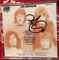 LED ZEPPELIN album z autografem ROBERTA PLANTA