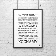 Plakat dekoracyjny 50x70 cm W TYM DOMU... DekoSign