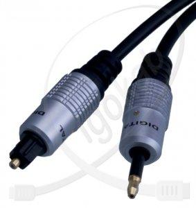Kabel OPTYCZNY TOSLINK-mini JACK DIGITAL 0,5m VITA