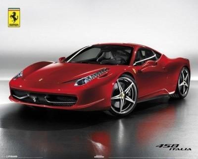 Czerwone Ferrari 458 Italia Plakat 40x50 Cm 6482247135 Oficjalne Archiwum Allegro