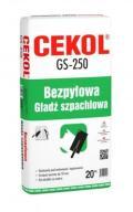 Bezpyłowa gładź gipsowa Cekol GS-250 20kg