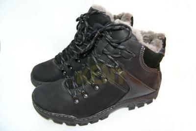 460137b6 KENT 119 Wysokie męskie zimowe buty ze skóry,skóra - 5728783479 ...