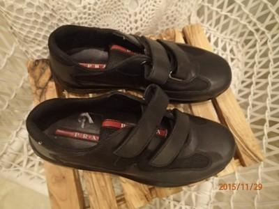 a9b95f40e7c92 skórzane buty sportowe PRADA - 6624793690 - oficjalne archiwum allegro