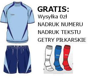 b51dbda12 ZINA KOMPLET PIŁKARSKI ENZO GRANAT r. L + GRATISY - 4374041984 ...