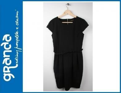 fcdedd1ef5 RESERVED Czarna elegancka sukienka BOMBKA 38 M - 5089360638 ...