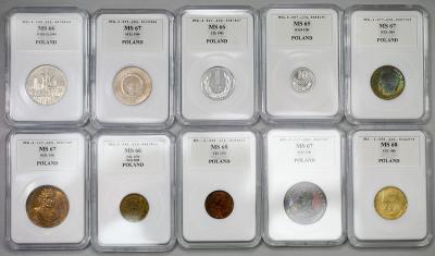 4837. zestaw 10 szt. monet PRL