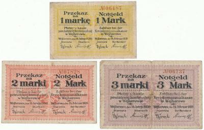 191. Wejherowo 1, 2, 3mk 1920, st.5+