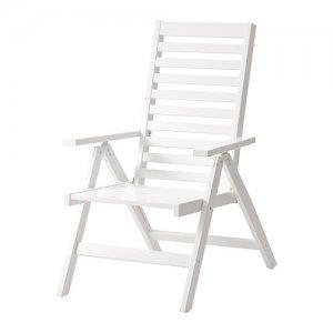 Ikea Applaro Krzesło Ogrodowe Białe Składane Drewn
