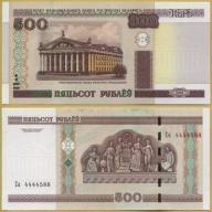 -- BIAŁORUŚ 500 RUBLI 2000 Sa P27b UNC