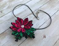 Zawieszka Naszyjnik Kwiat RĘKODZIEŁO prezent