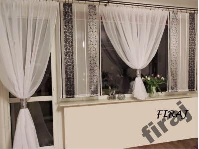 Nowoczesne Gotowe Firany Panele Ekrany Woal Balkon