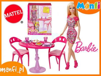 Mattel Barbie Umeblowanie Domku Jadalnia Lalka 5825467841