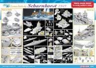Dragon 1040 German Battleship Scharnhorst 1943 (1: