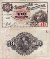 Szwecja, 10 Kronor 1938, P. 34u