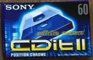 KASETA Sony CDitII 60 Chrome - NOWA, ZAFOLIOWANA