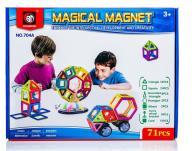 Kolorowe klocki magnetyczne MAGICAL MAGNET 71 SZT.