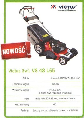 KOSIARKA SPALINOWA Z NAPĘDEM VS 48 L65 VICTUS 3W1