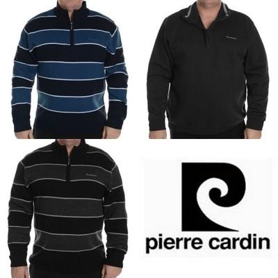 Sweter Męski Pierre Cardin roz 5XL CZARNY Bawełna