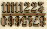 Cyfry arabskie złote 20 mm do zegara
