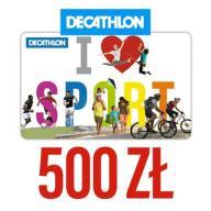 Bon karta voucher Decathlon 500zl.Wysyłka Gratis!!
