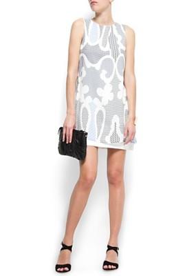 cbbd11133e MANGO biała sukienka we wzory wiskoza NOWA M - 6867276959 ...