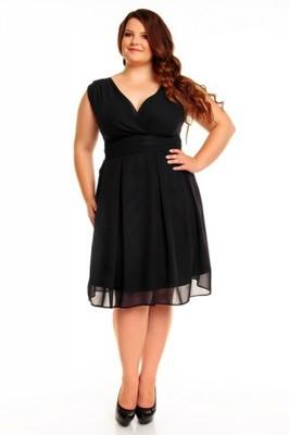 Okazja Czarna Sukienka Plus Size V Sylwester 6599452867 Oficjalne Archiwum Allegro