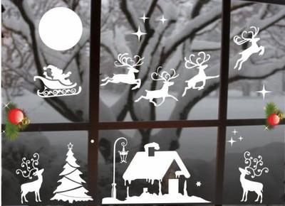 Naklejki świąteczne Naklejka Na Szybę Okno Ozdoby