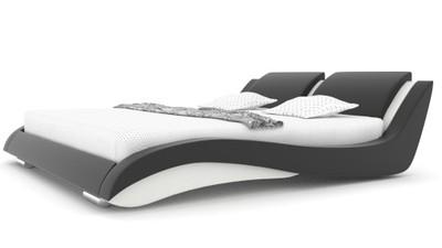 łóżko Sypialnia Stilo 2 Slim Skóra 160x200 Stelaż