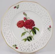 SCHUMANN ażurowy talerz dekoracyjny róże nr 8