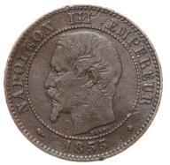 Francja - moneta - 2 Centymy 1855 BB - 2