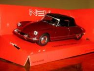 CITROEN DS 19 CABRIOLET Z DACHEM BORDO 1:34 WELLY