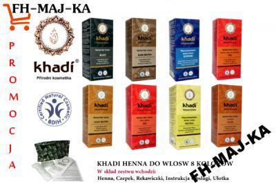 Khadi Henna Naturalna Farba Do Wlosow 8 Kolorow 5669532458