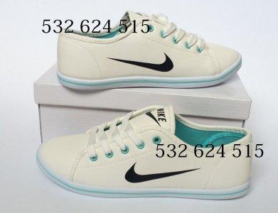 finest selection 7dd82 45ae0 Trampki Damskie Nike Biały - Miętowy Tenisówki