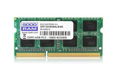OUTLET Pamięć RAM do laptopa 4 GB DDR3 GOODRAM CL9