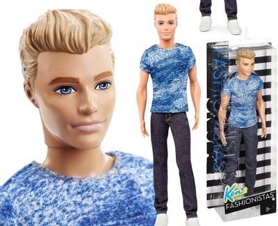 Mattel KEN Barbie LALKA Fashionistas BLONDYN Outle - 6817919412